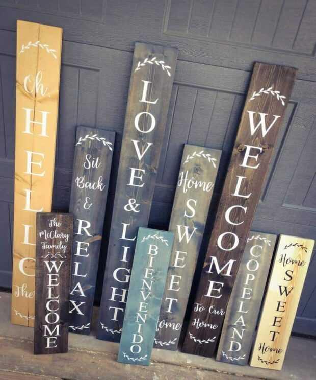 Panneaux de bienvenue de bricolage pour votre véranda