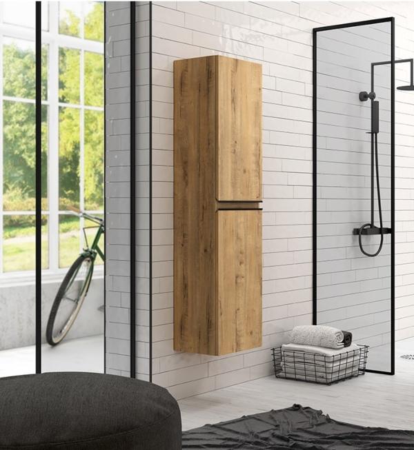 Colonne de salle de bain en bois