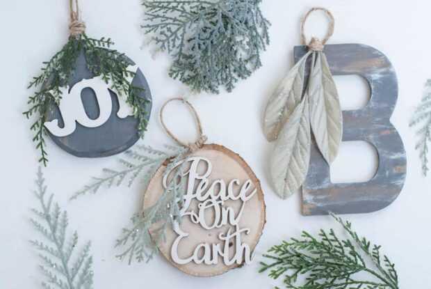 12 ornements de Noël rustiques bricolage - ornements de Noël rustiques, Noël rustique, ornements de Noël rustiques bricolage, idées de Noël rustiques bricolage