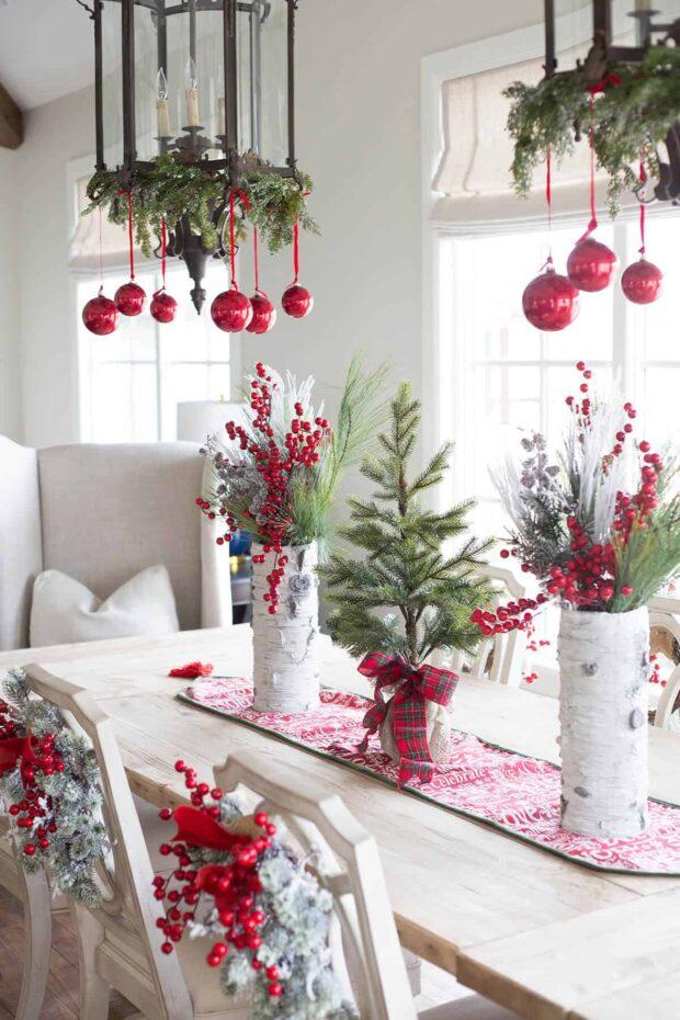 24 idées de décoration de Noël dans toutes les nuances de rouge - idées de décoration de Noël rustiques, idées de décoration de Noël rouges, idées de décoration de Noël bricolage, idées de décoration de Noël