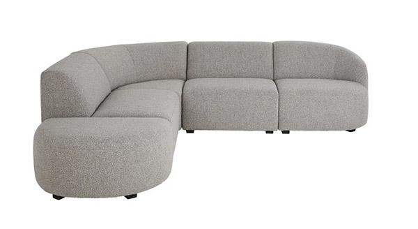 canapé modulable gris design moderne