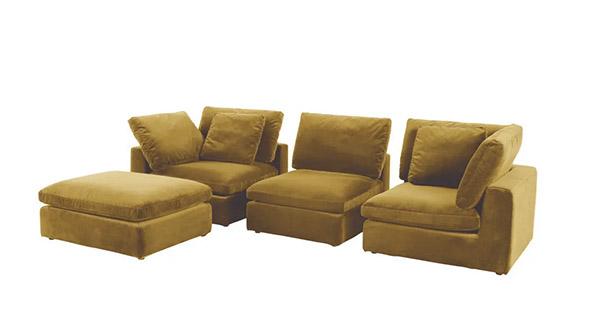 canapé d'angle en velours