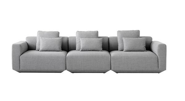 canapé modulable de design moderne avec coussins
