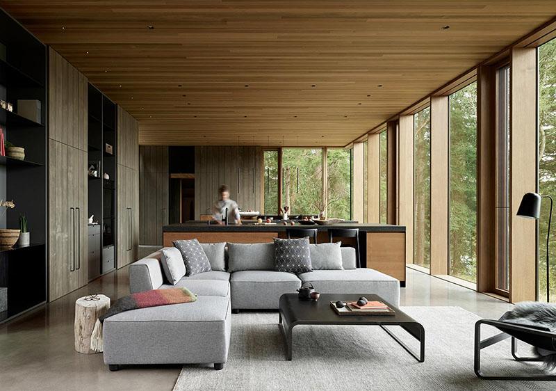 maison rustique moderne