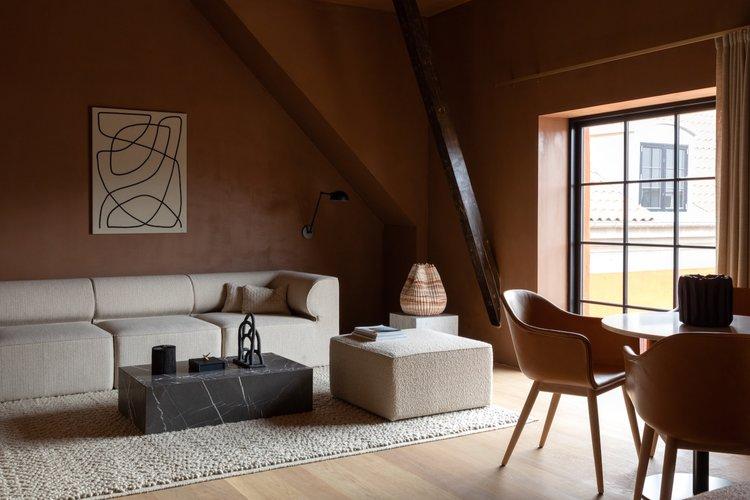 décoration de salons avec canapés modulables