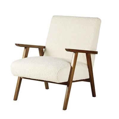 chaise en fourrure blanche