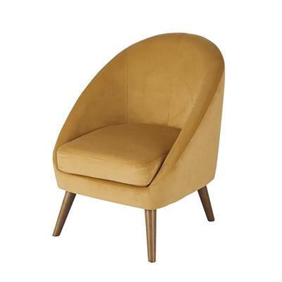 fauteuil en velours de style vintage