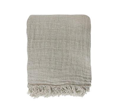 couvre-lit en lin lavé