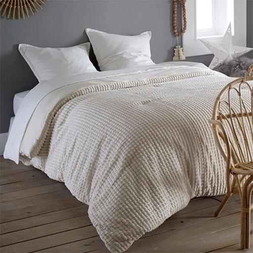 bouti de lit en coton