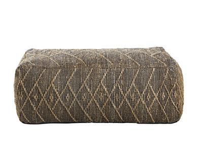 feuilleté rectangulaire en fibre naturelle et coton