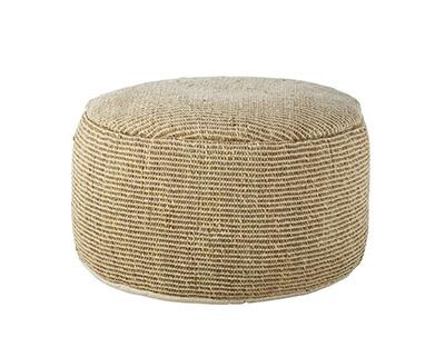bouffée ronde en fibre naturelle