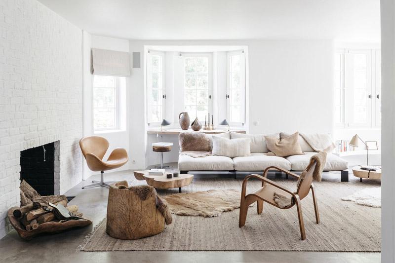 tapis en fibre naturelle pour décorer le salon