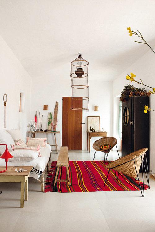 tapis à motifs pour décorer un salon
