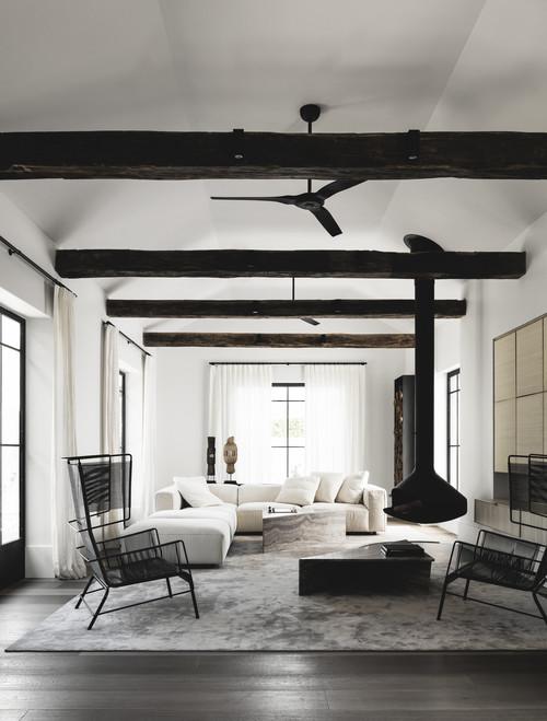 Salon tapis gris