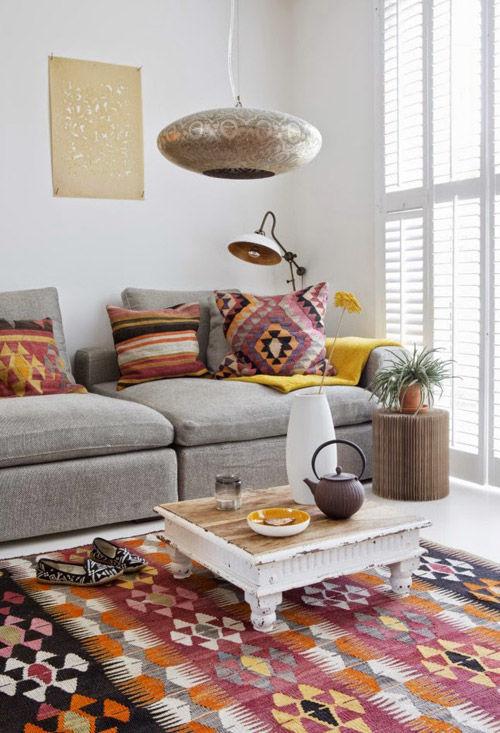 coussins kilim pour décorer la maison