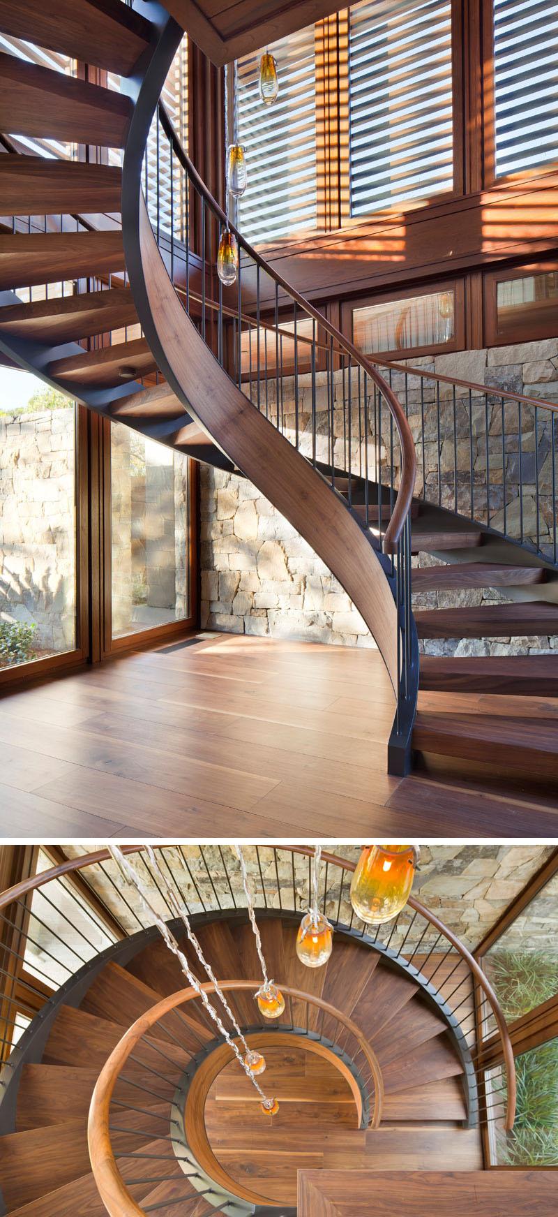 Escalier en colimaçon Tower Grove House
