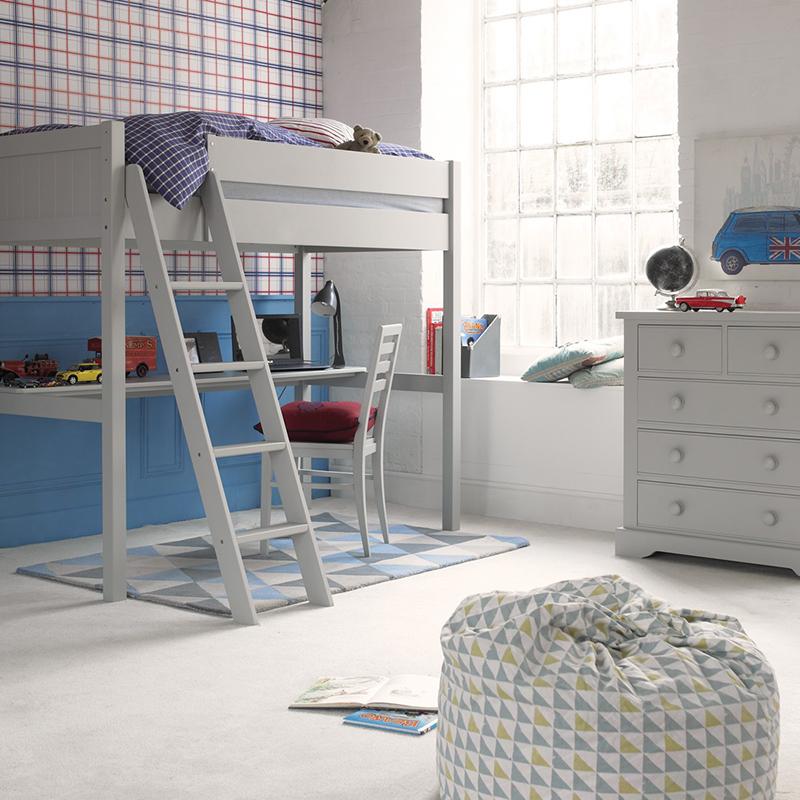 Fargo Farleigh - Canapé-lit haut gris avec bureau pleine longueur