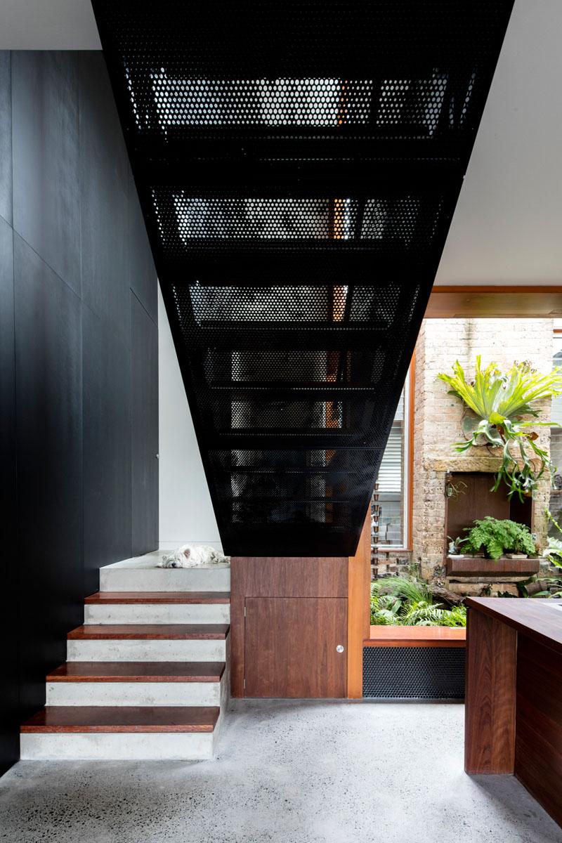 Escalier de la maison écran