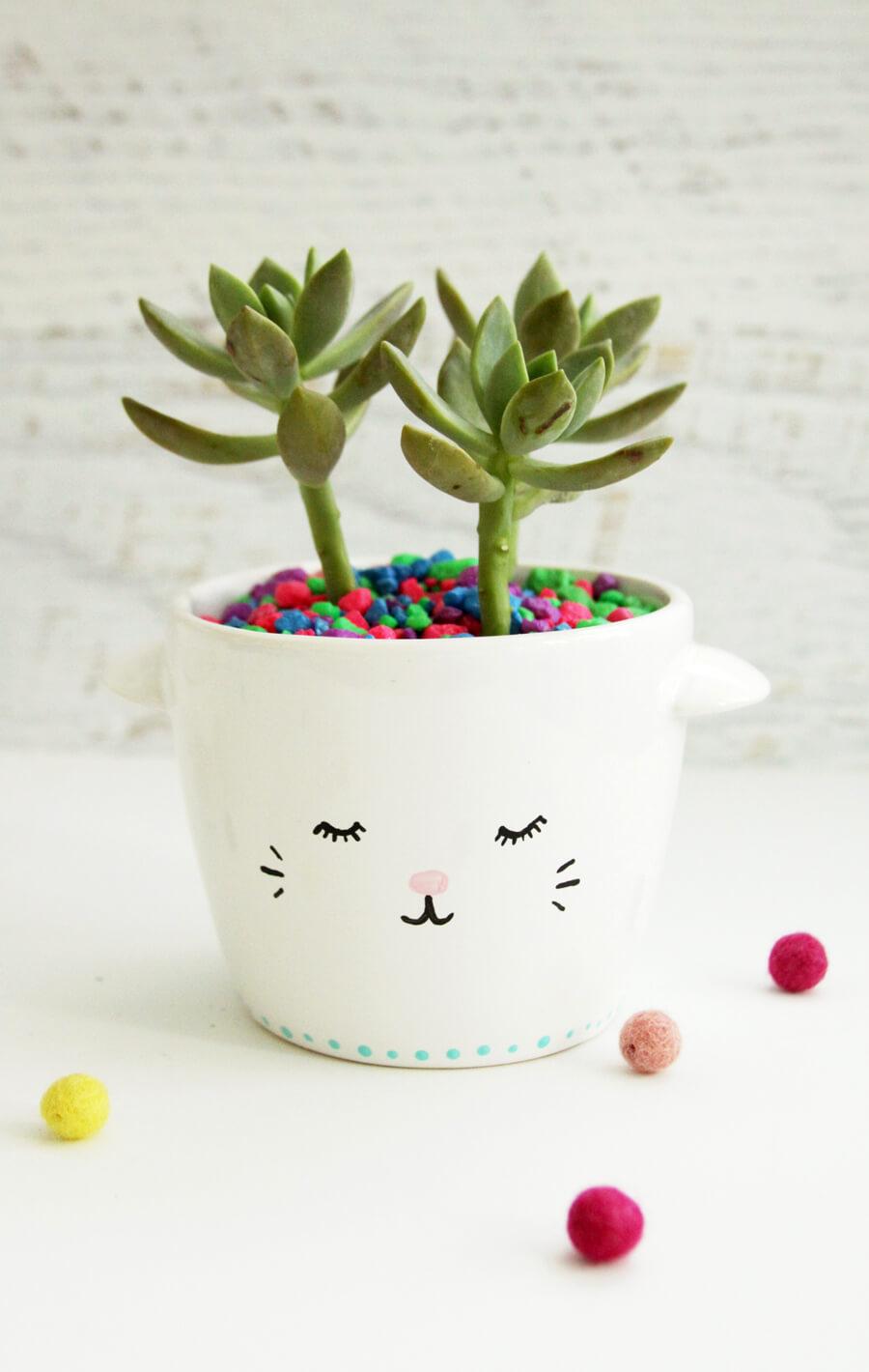 Mini jardinière succulente de tasse de thé de lama adorable