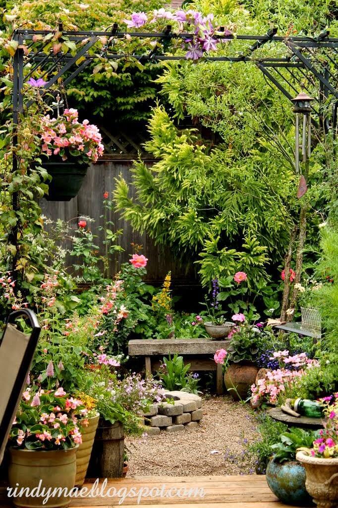 Retraite avec foyer au jardin zen Flower Paradise