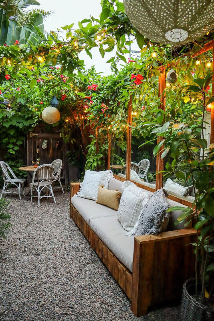 Petit espace bricolage jardin zen