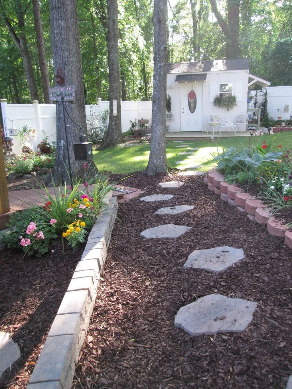 Belle idée de jardin de chemin de pierre