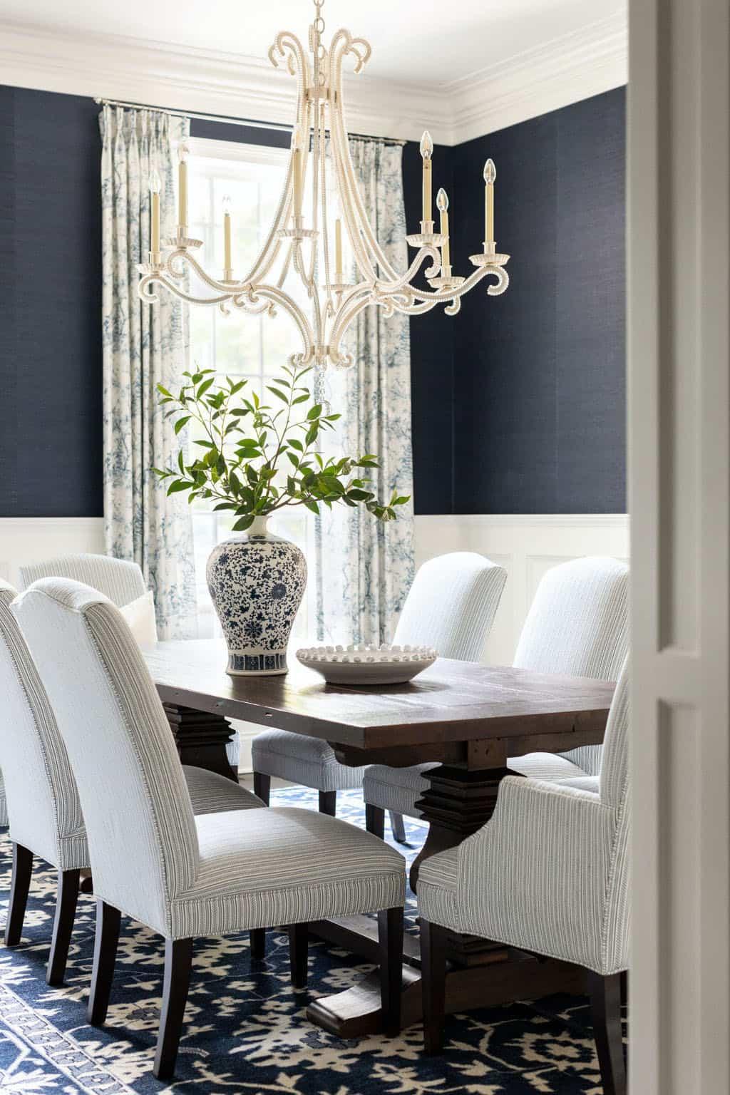 salle à manger au style sophistiqué