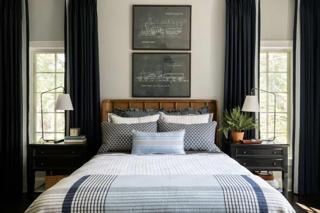chambre à coucher au style sophistiqué