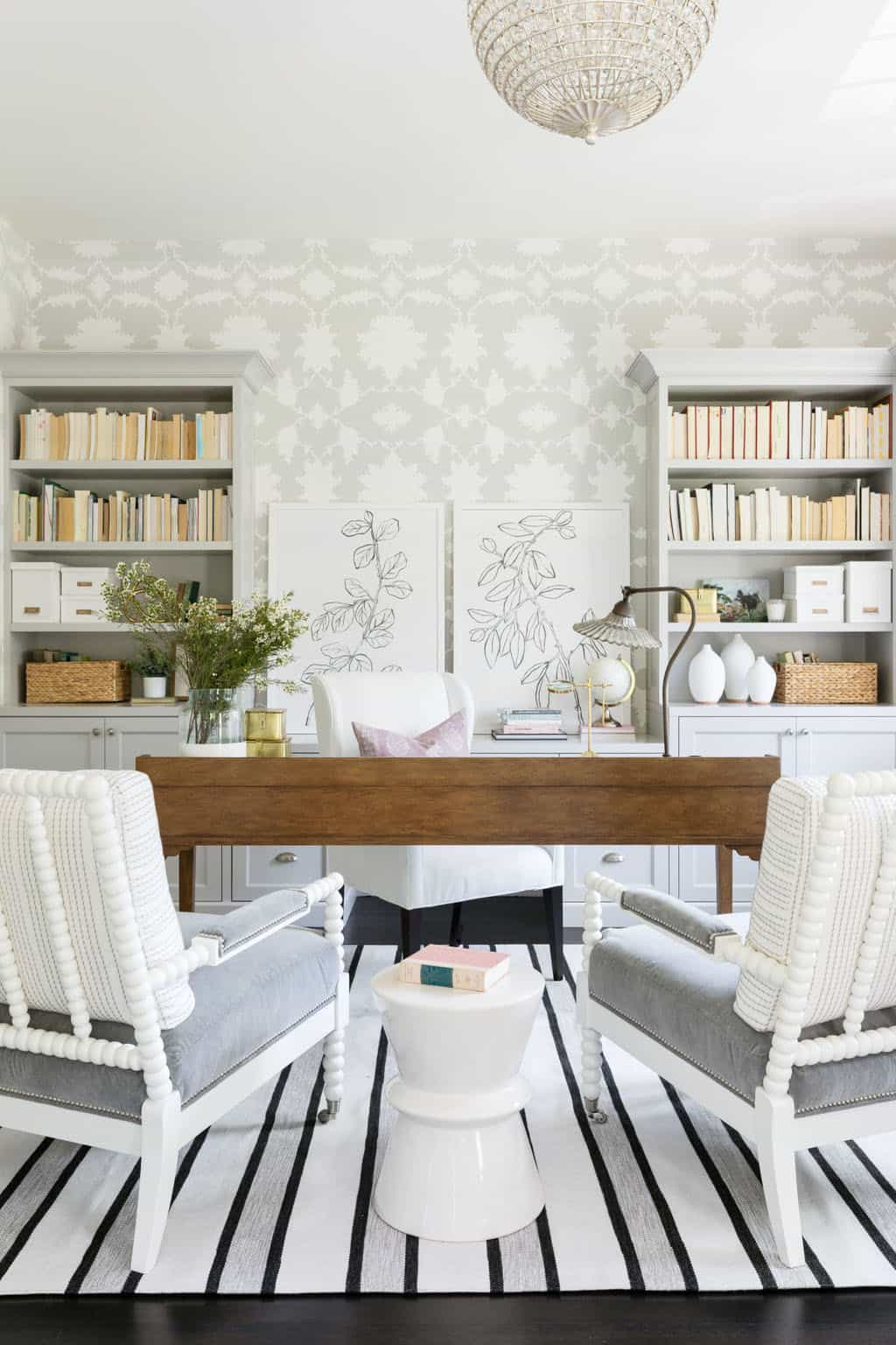 bureau à domicile avec un style sophistiqué