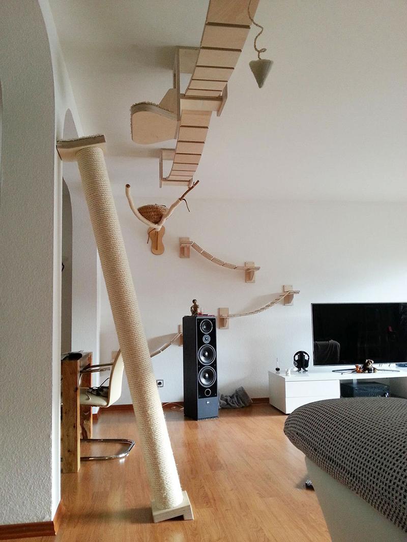 Terrains de jeux pour chats aériens