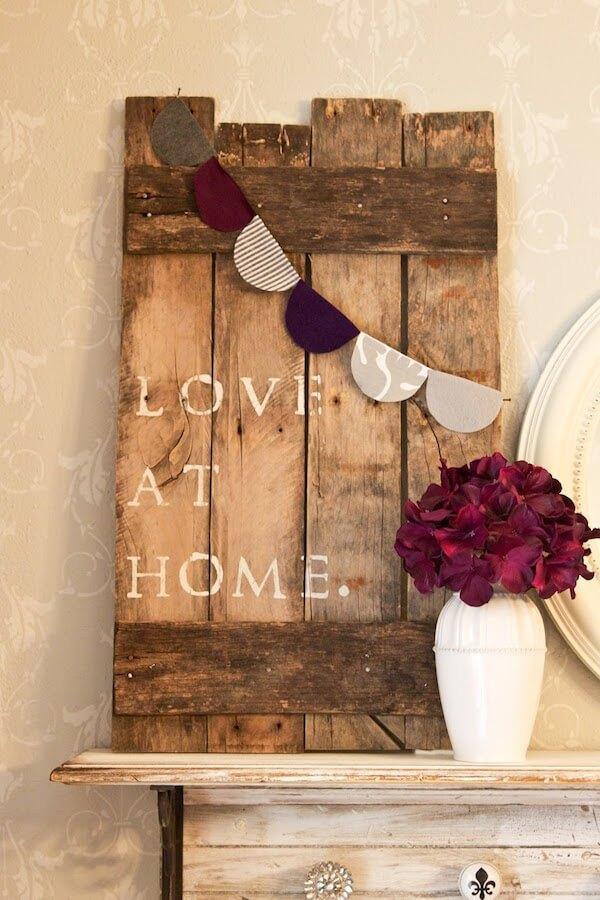 Un excellent moyen d'afficher l'amour à la maison