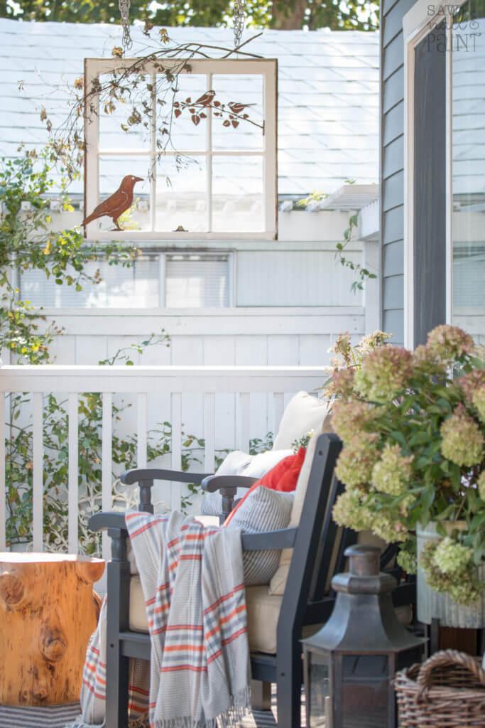 Décor de cadre de fenêtre illusoire pour la nature