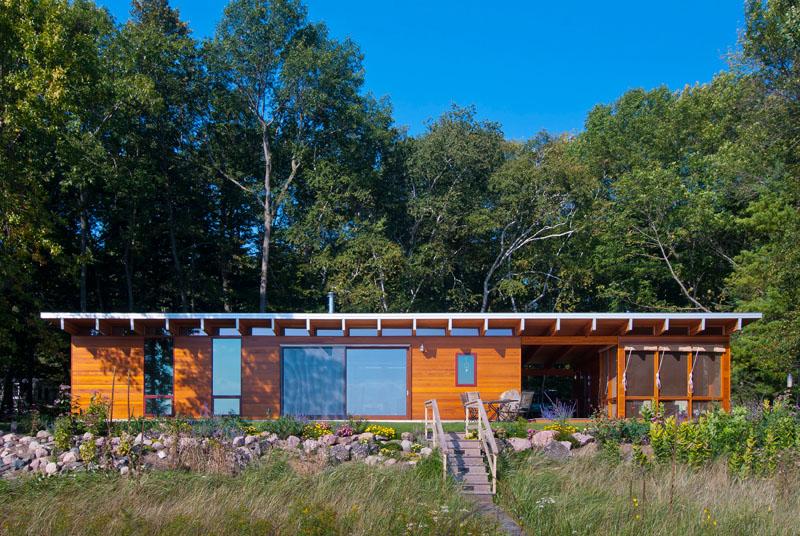 Cottage sur la plage du lac Michigan