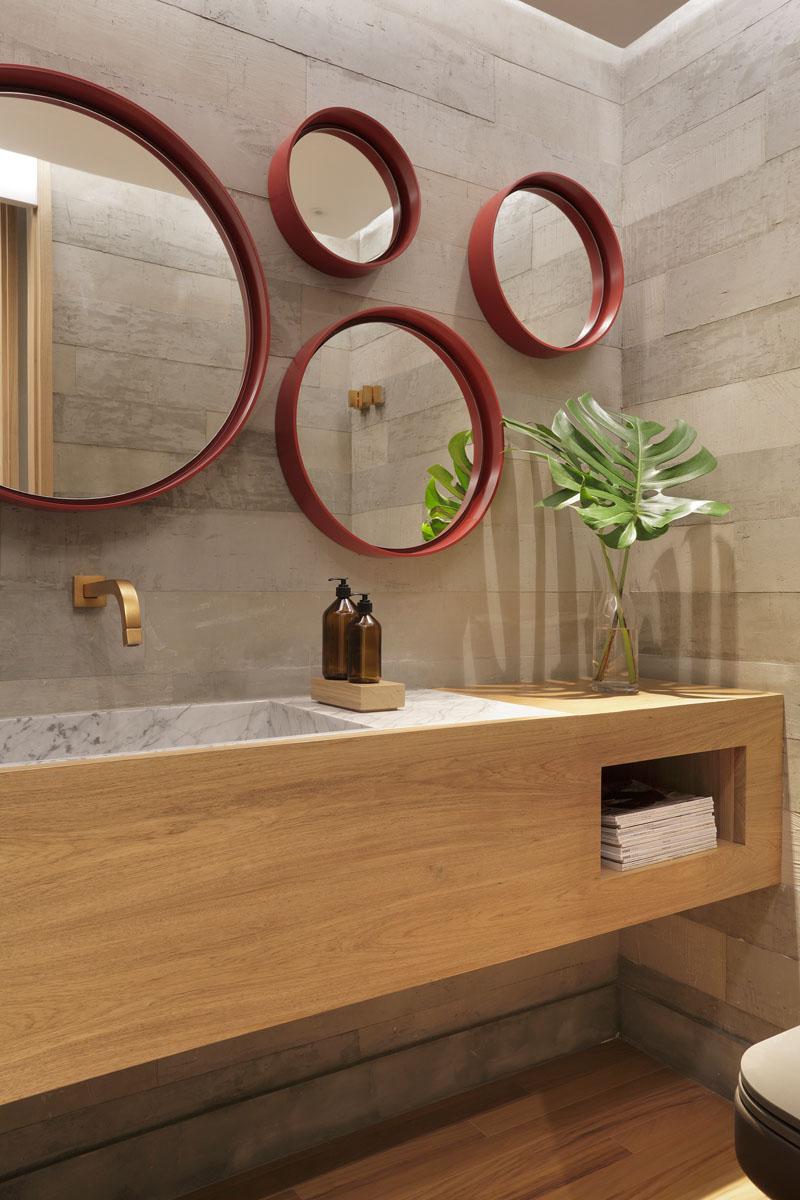 Appartement MICF salle de bain bois