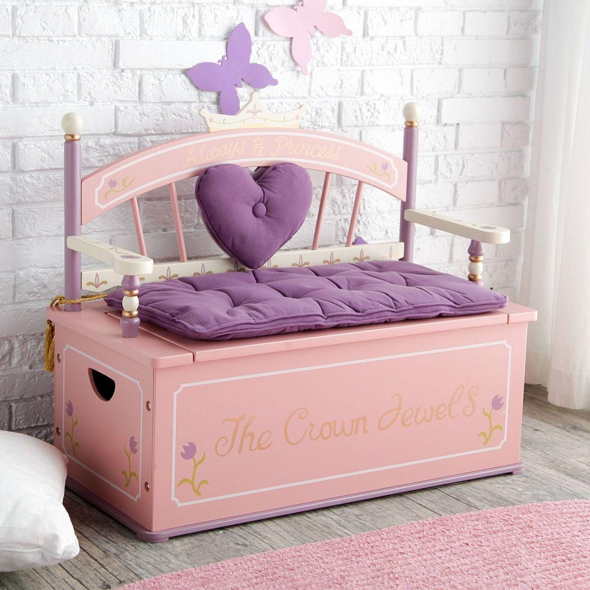 Le banc luxueux et exquis avec rangement en dessous est parfait pour les filles modernes & # 039;  salle