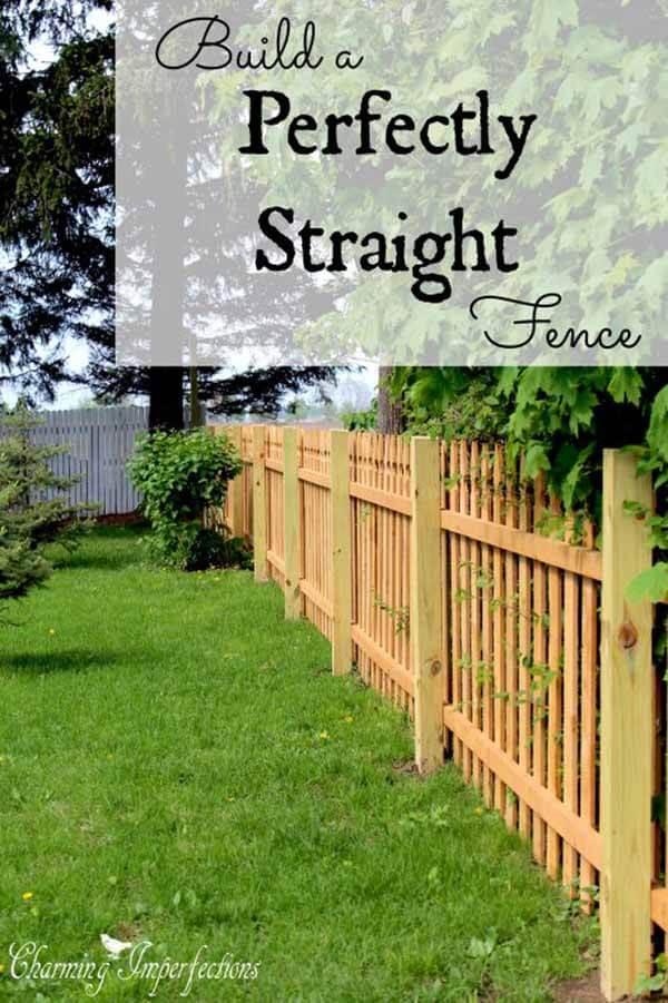 Clôture en bois naturel parfaitement droite