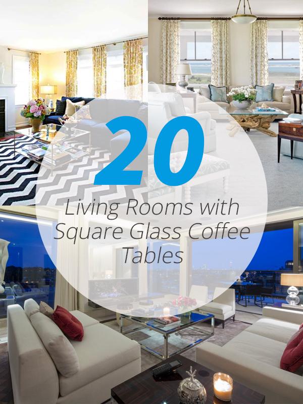 tables basses carrées en verre lr