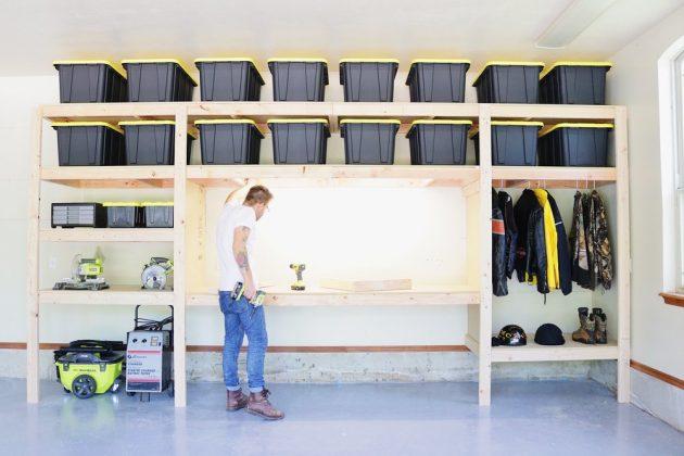 Top 5 des avantages des étagères de rangement de garage en bois de bricolage