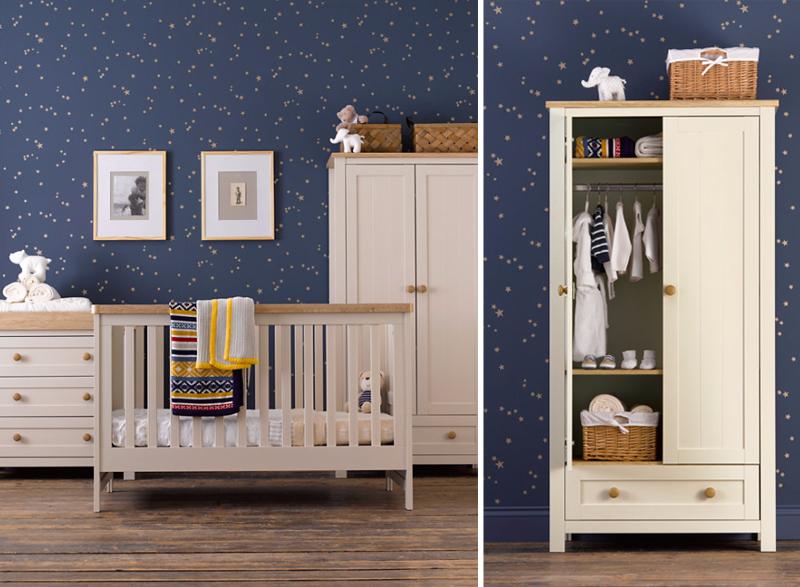 Ensemble de 3 meubles de chambre d'enfant Lulworth de Mothercare - poivre blanc
