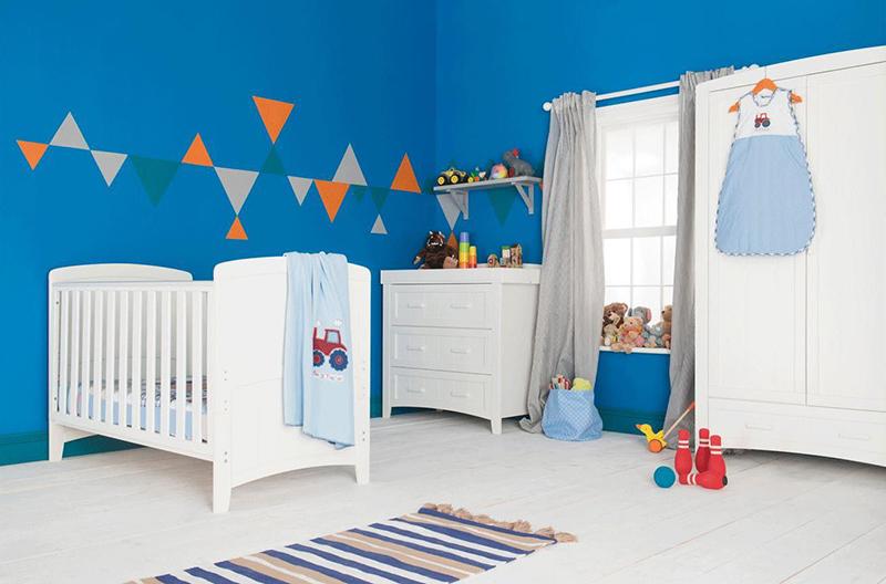 Kiddicare Darcy Nursery Furniture Ensemble de lit de bébé blanc