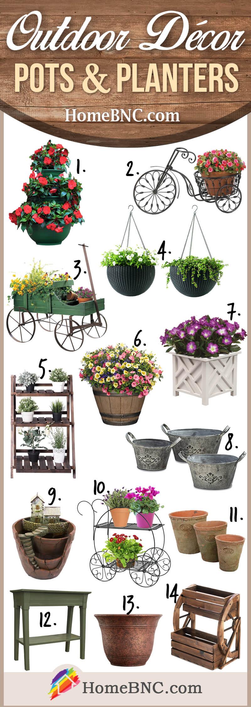 Idées de décoration extérieure pour pots et jardinières