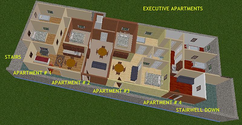Plan d'étage du bunker nucléaire