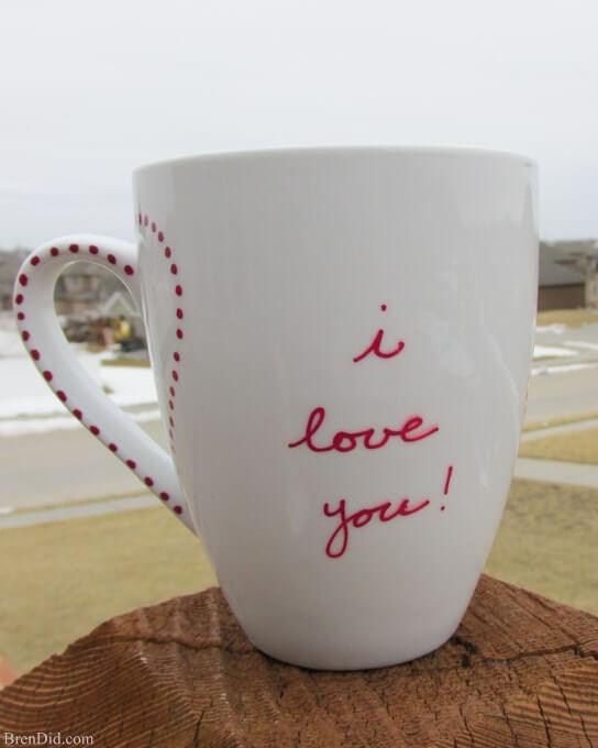 Tasse simple et sentimentale «Je t'aime»