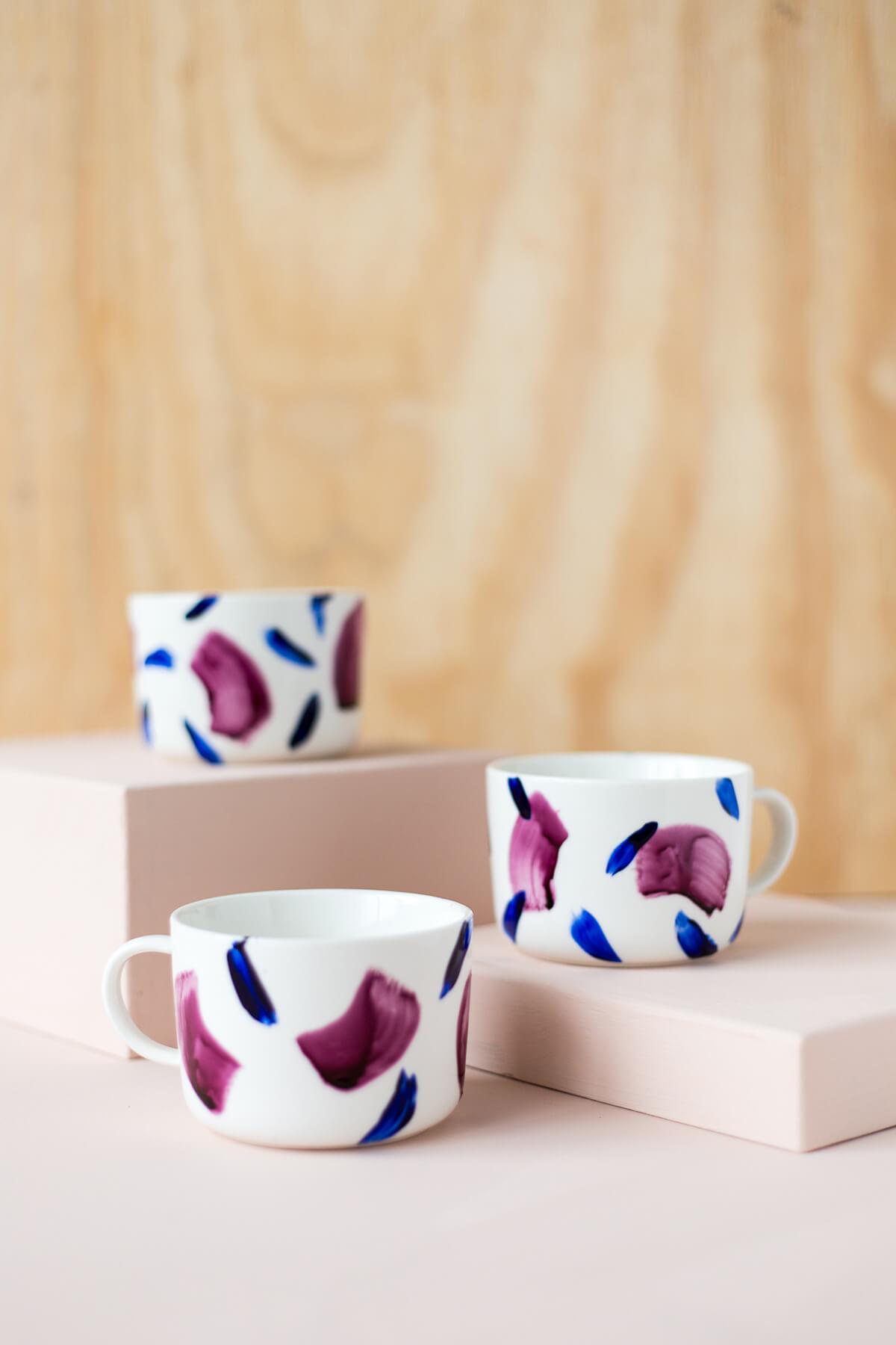 Tasses à motifs élégantes et modernes