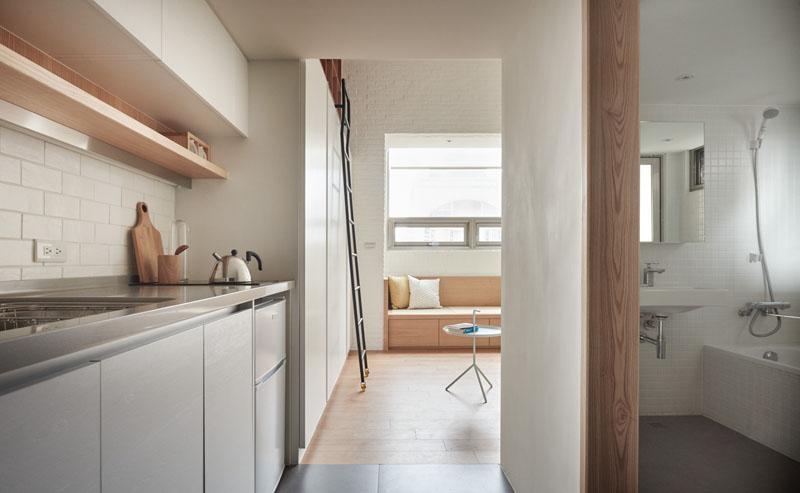 couloir de l'appartement loft