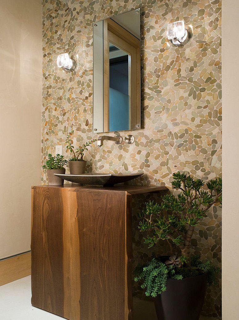 Une touche de verdure à l'intérieur est le moyen idéal pour rehausser l'ambiance à l'intérieur de la salle d'eau