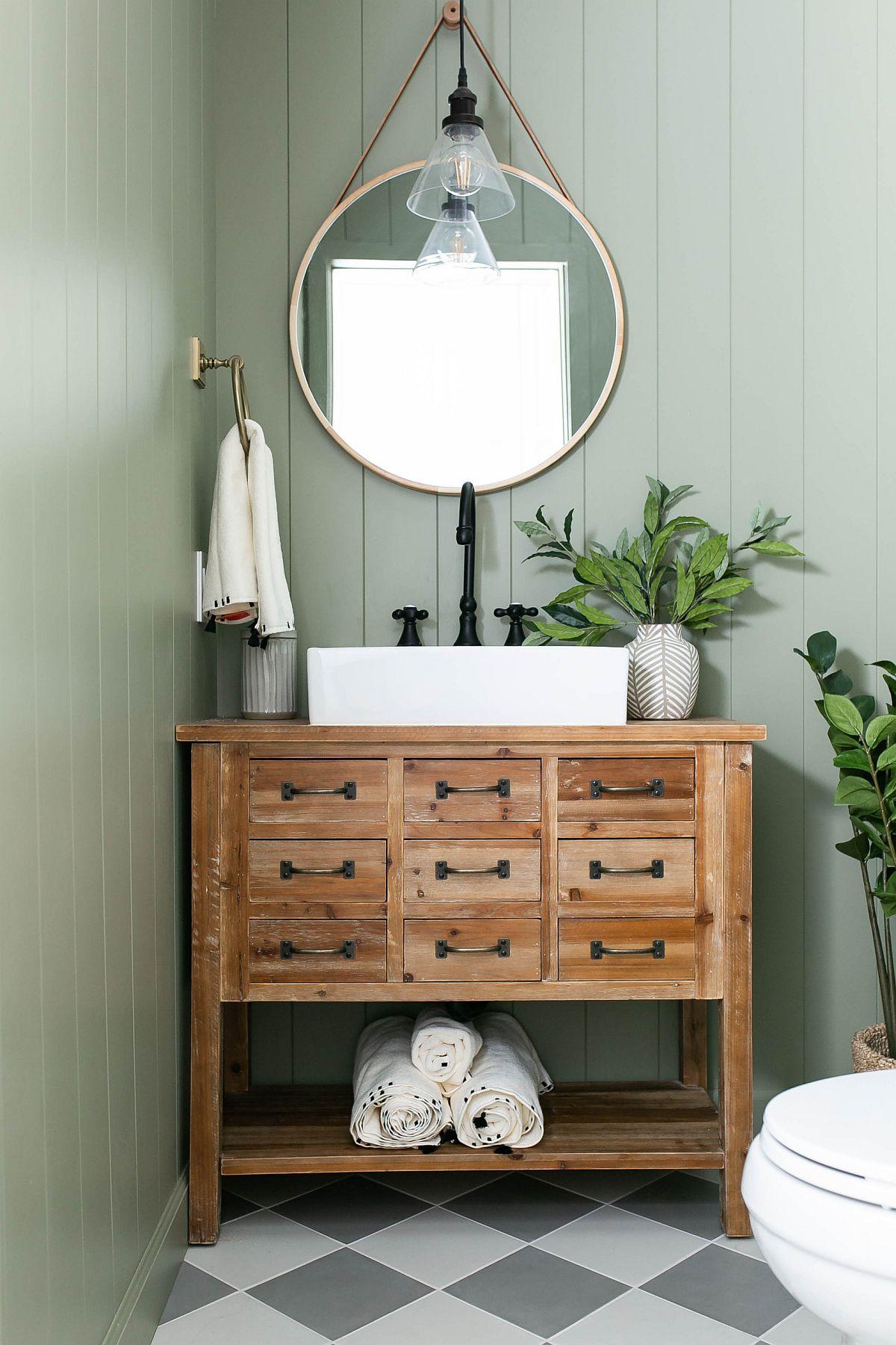 Trouver le bon vert pastel pour une salle d'eau agréable