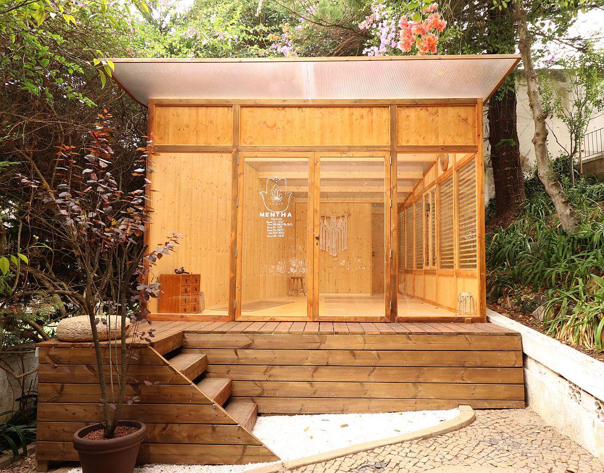 Vous n'avez pas besoin de trop d'espace loin de cette évasion tranquille dans le jardin