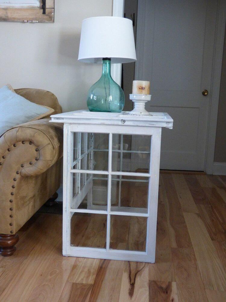 Table d'appoint à panneaux en verre Windows To The Home