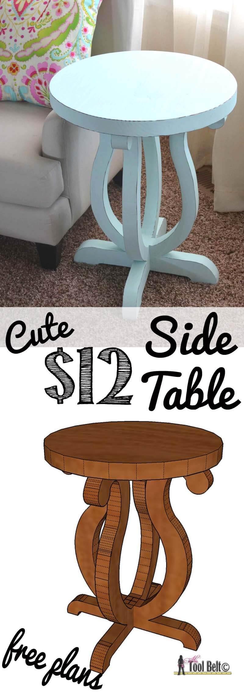 Table d'appoint de bricolage Splendor simplifiée